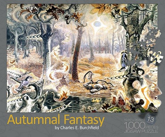 Autumnal Fantasy Puzzle Box Top