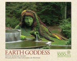 Earth Goddess Atlanta Botanical Garden Puzzle Box Top