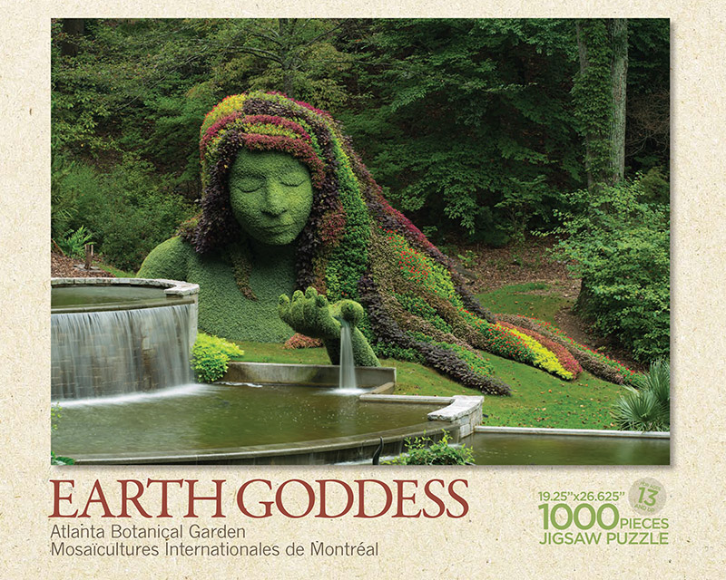 Earth Goddess Atlanta Botanical Garden Puzzle Box Top