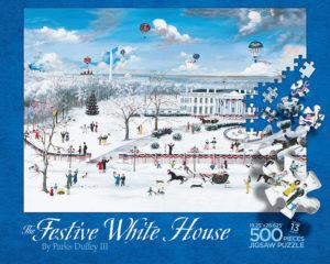 The Festive White House puzzle box