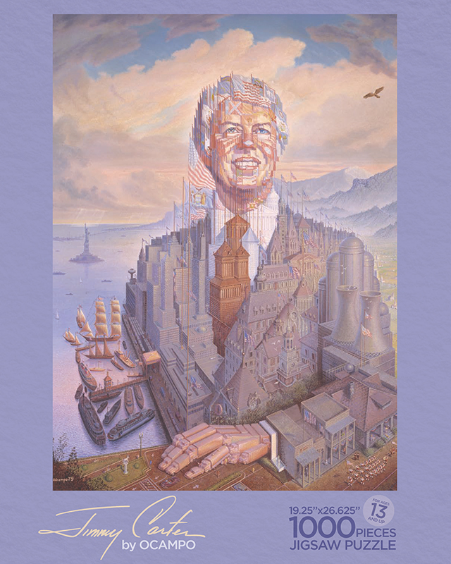 Jimmy Carter by O'Campo - puzzle box top
